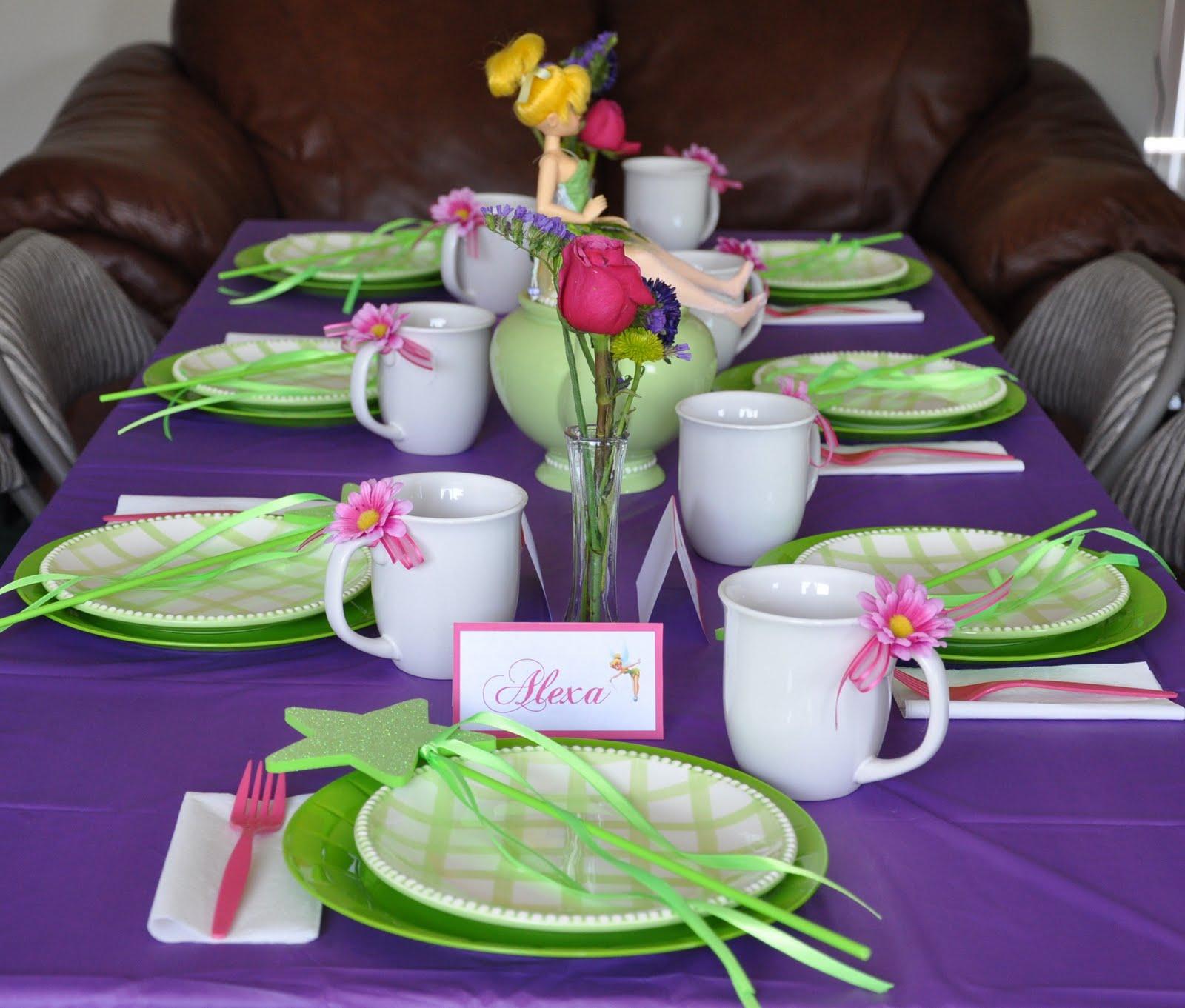 Сервировка детского стола на день рождения в домашних условиях