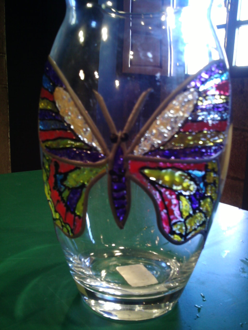 Artes decorativas geli molina jarron de cristal for Jarron cristal