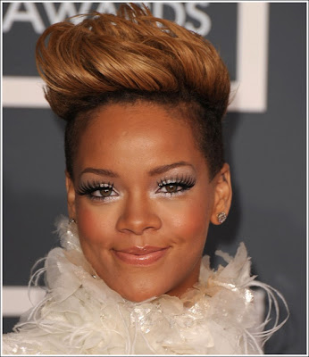 mohawk hairstyle pictures. Rihanna#39;s Mohawk Hairstyle Get