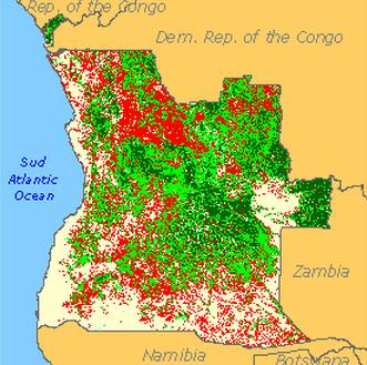 Angola Rising January - Angola provinces map