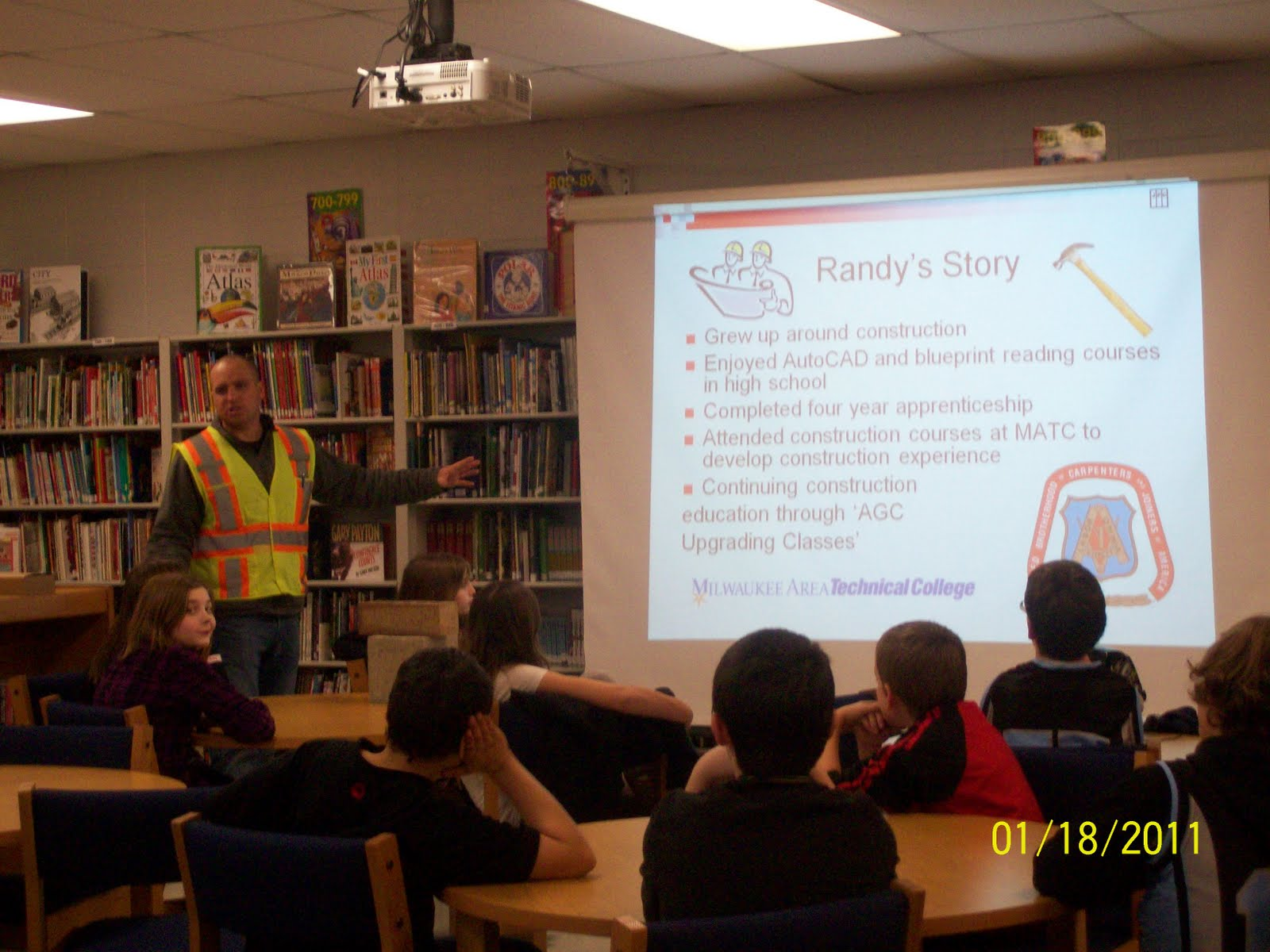 Trevor wilmot school receives construction careers presentation pictured in the photos are john kaltenberg and randy kisley safety vest want to know more about the project search our blog keyword trevor malvernweather Gallery