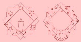 Рождественский венок - оригами