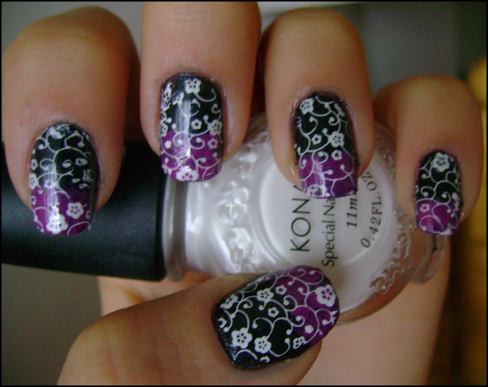 The Cool Black white cheetah nail designs Digital Imagery