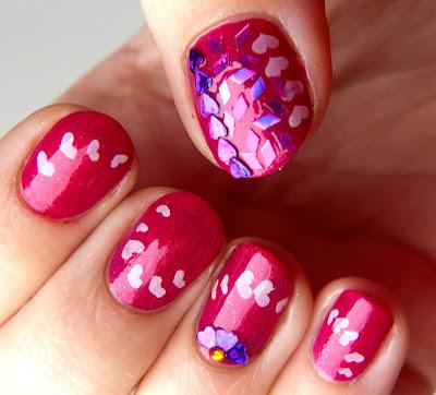 acrylic nail art designs closed valentine's day