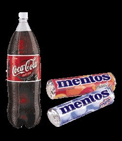 video coca cola et mentos