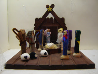 christmas clothespin nativity scene craft idea