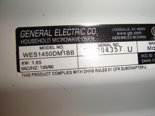 GE Model WES1450DM1BB Bought at Walmart