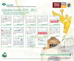 Calendario CONALEP 2010-2011