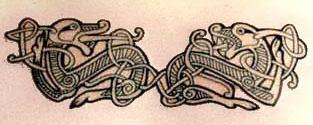 Celtic art body tattoo 3