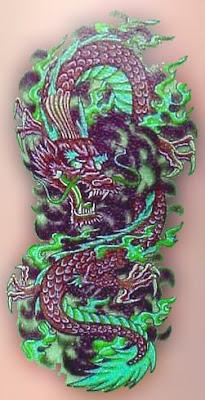 Red Dragon Tattoo Design