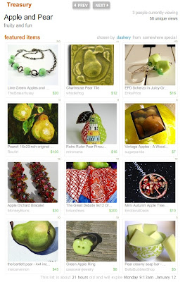 Apple and Pear Etsy Treasury