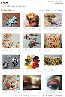 falling fall leaves etsy handmade treasury