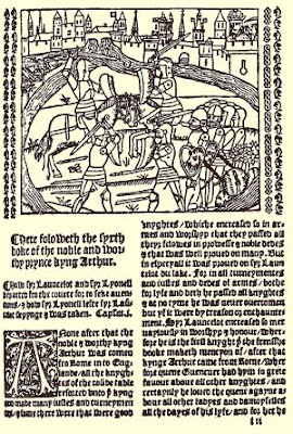 page from 1529 edition of Malory's Morte d'Arthur, originally publised by Caxton in 1485