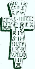 Latin incription, found Glastonbury 1191