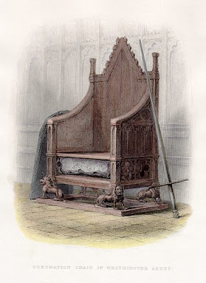Coronation Chair and Stone of Scone,in A History of England (1855)