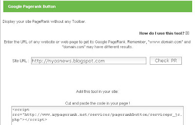 memasang widget pagerank