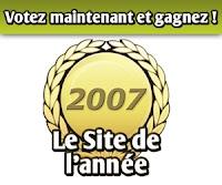 Choisissez le site Internet de l'Année 2007 !