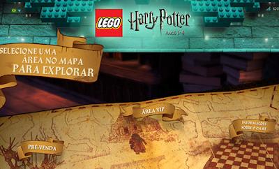 Visite o site oficial de 'Harry Potter LEGO: Anos 1-4'