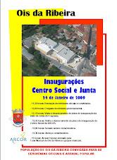 Programa de inauguração do Centro Social da ARCOR