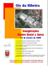 O terceiro cartaz da inauguração do Centro Social