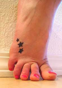 Star Tattoo, Female Tattoo, Foot Tattoo
