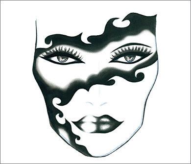 Blank Makeup Face Charts. Face Chart - Madame Mask