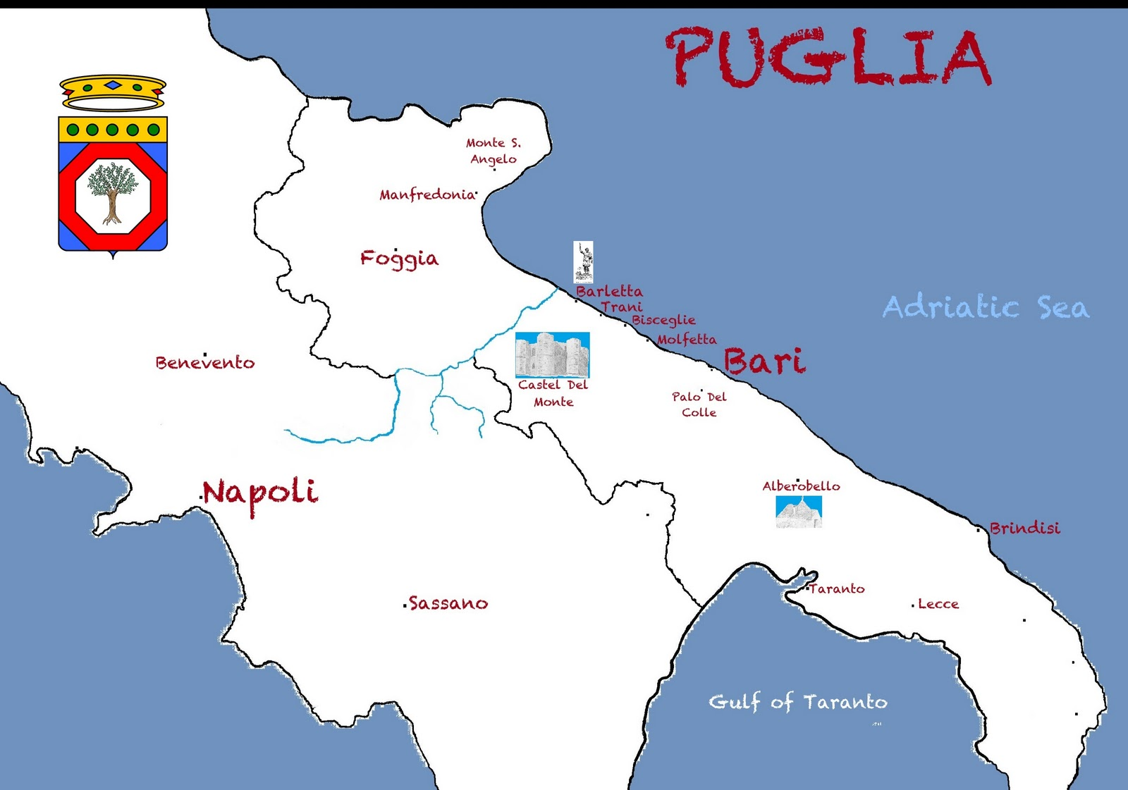 Southern Italian History Culture And Genealogy Map Of Puglia