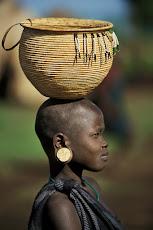 A mursi girl