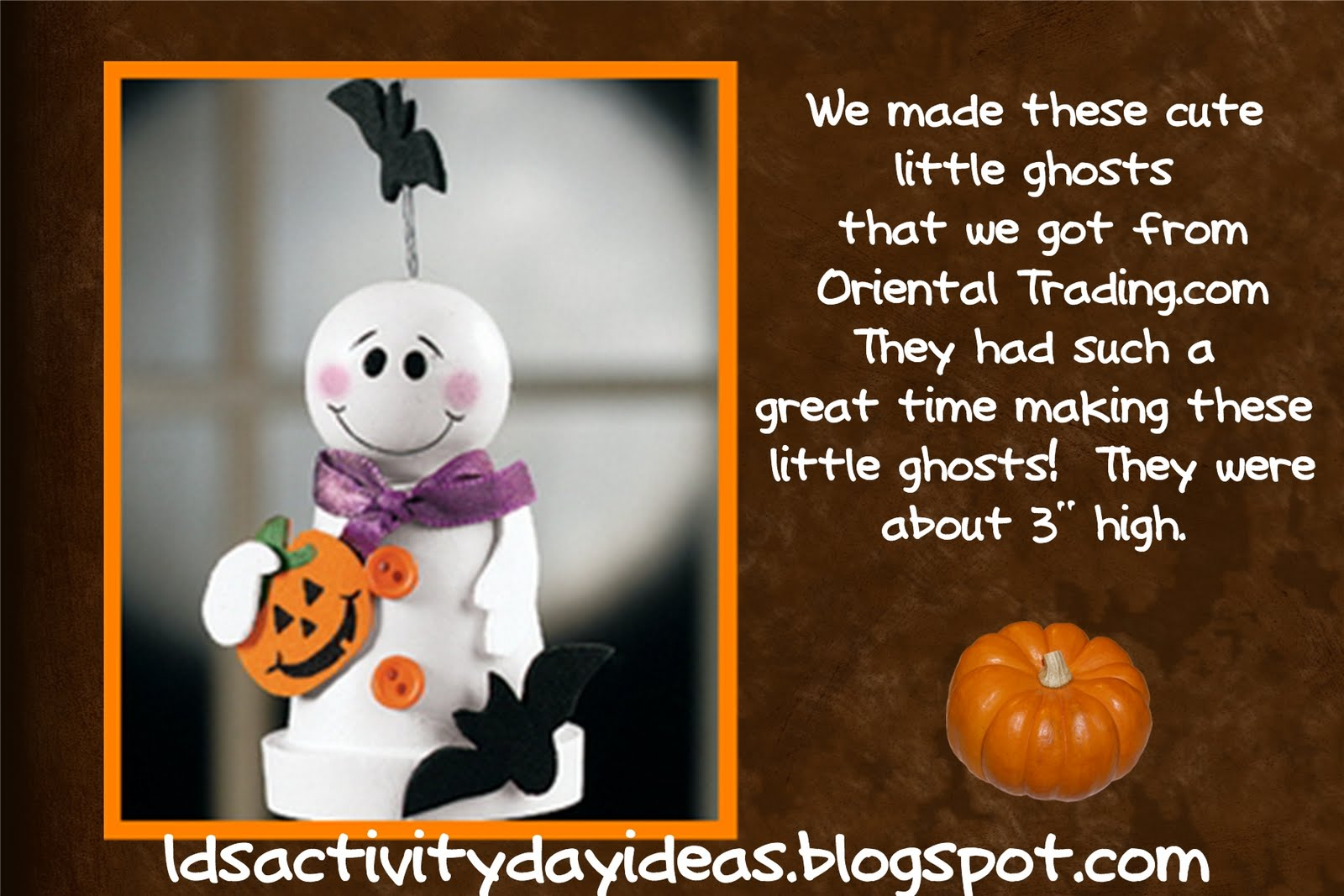 lds activity day ideas: halloween ideas