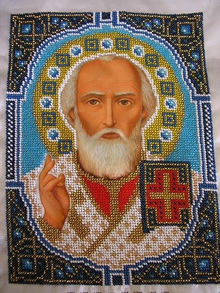 Первая икона (бисер) от Новой слободы.