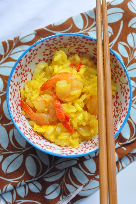 Living life spicy seafood risotto for Spicy prawn risotto