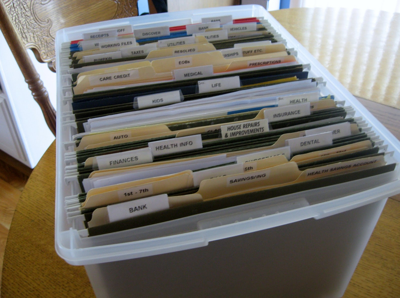 how to set up an effective household filing system - Hanging File Box : hanging box files - Aboutintivar.Com