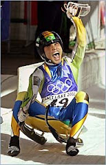 One of Brazil's first Luge athletes