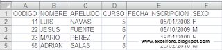 Ejercicio con LISTAS de Excel.