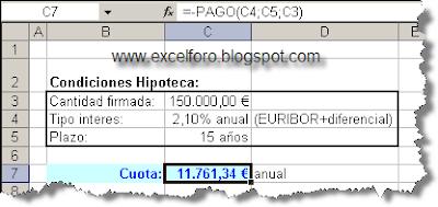 Hipotecas pago pagoprin y pagoint excel foro for Tipo interes hipoteca