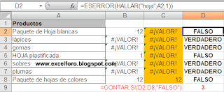 La función HALLAR en Excel.