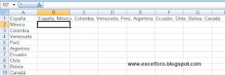 VBA: Concatenar elementos de una lista.