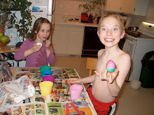 When painting Easter Eggs still entertained them