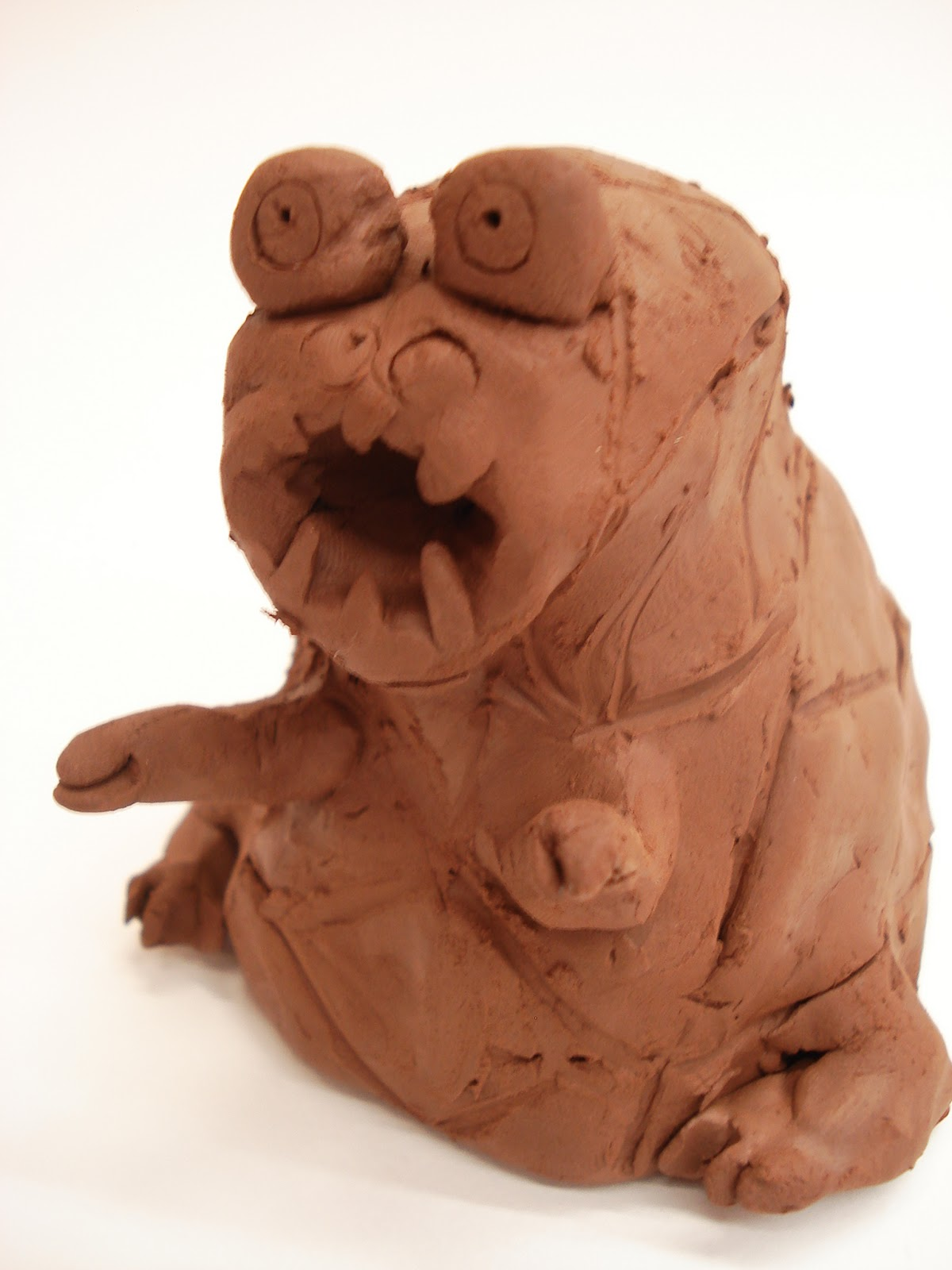 a faithful attempt pinch pot ceramic creatures