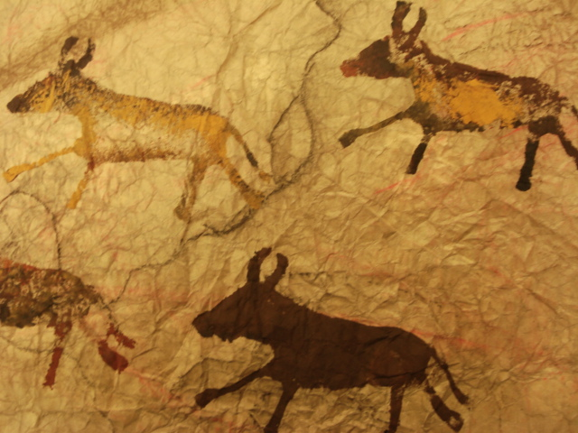 cave painting A hand painted in an indonesian cave dates to at least 39,900 years ago, making it among the oldest such images in the world, archaeologists reported wednesday in a study that rewrites the.