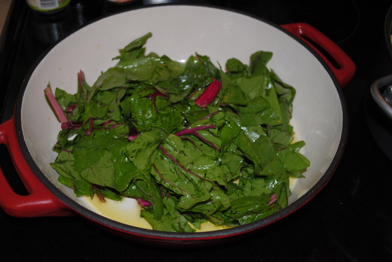 taste a little of the summer: sauteed swiss chard & dill