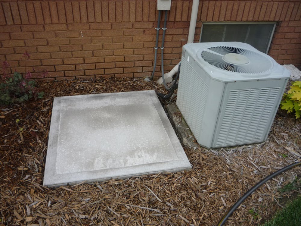 Irvington bungalow june 2010 for Air conditioner slab