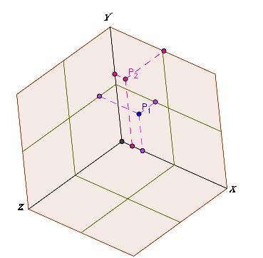 Distancia entre puntos en el espacio