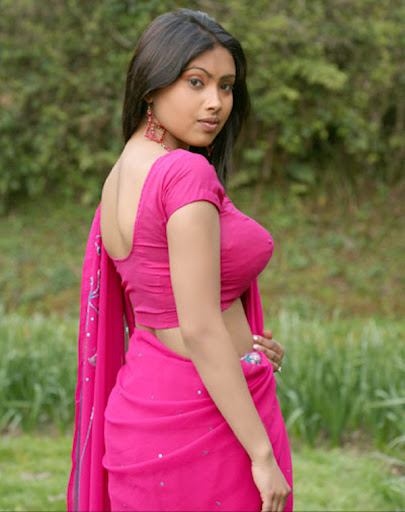 Srijana in Pink Saree Spicy Photo Gallery