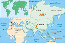Nepal in World Atlas