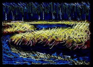 colorful landscape | river | art
