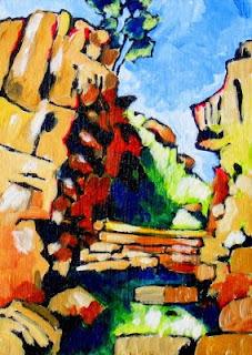 cliff landscape painting art