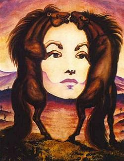 Lukisan Wanita Berjilbab
