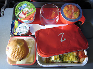 In-flight breakfast