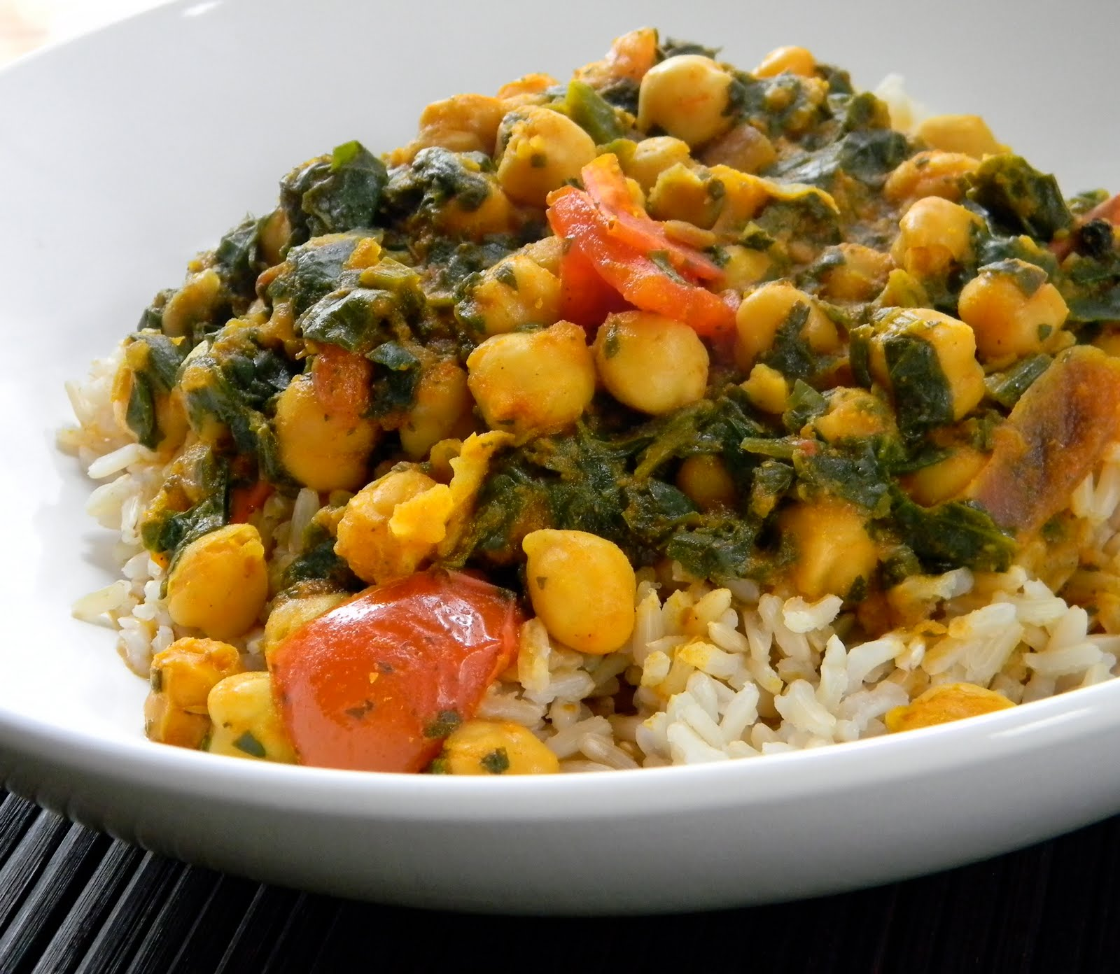 Easy chick pea and spinach indian curry eat good 4 life easy chick pea and spinach indian curry forumfinder Image collections